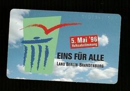 Carta Telefonica Germania -  5 Mai 1996  -  Carte Telefoniche@Scheda@Schede@Phonecards@Telecarte@Telefonkarte - Germania
