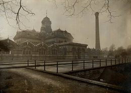 DRAINAGE SOUTH LONDON ABBEY MILLS   Abbey Mills Pumping Station 20*15CM Fonds Victor FORBIN 1864-1947 - Lugares