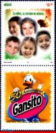 Ref. MX-2532 MEXICO 2006 COMICS, CHILDREN, THE FUTURE OF, MEXICO, STAMP AND LABEL MNH 1V Sc# 2532 - Mexique