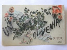 CPA (50) Manche - Un Souvenir Des Pieux - France
