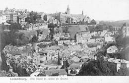 Luxembourg - Ville Haute Et Vallée Du Grund (colorisée Verte) - Luxemburg - Stad