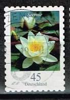 Bund 2018, Michel# 3376 O Blumen: Seerose Selbstklebend, Self-adhesive - BRD