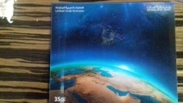 UAE ,2019, MNH, SPACE, FIRST ARAB SATELLITE,  SPECIAL 3D  S/SHEET, ONLY 4000 PRINTED - Raumfahrt