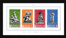 SUISSE  Restes De Collection: Feuillet De 4 Timbres ND  Pro Patria 1940  Neufs**   Très Forte Cote   LUXE  !!! - Blocks & Kleinbögen
