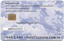 Turkey - TT (chip) - Soldier Cards (Aircraft) - C-245C - Havacikartt Nisan 2013, 50U, Used - Turkey
