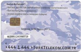 Turkey - TT (chip) - Soldier Cards (Aircraft) - C-245D - Havacikartt Mayis 2013, 50U, Used - Turkey