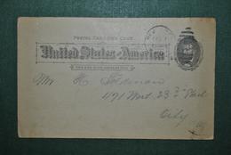 Etats-Unis 1895 Carte Postale Grant Circulé - Entiers Postaux