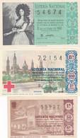 Lote De 6 Decimos Antiguos - Lottery Tickets