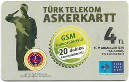 Turkey - TT (chip) - Soldier Cards - C-272A - Asker Kart GSM Advert. (Temmuz 2013), 4₤, 2011, Used - Turkey