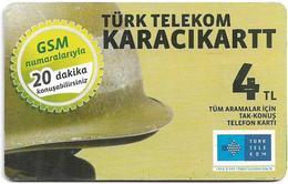 Turkey - TT (chip) - Soldier Cards - C-273F - Karacikartt (Ekim 2013), 4₤, 2011, Used - Turkey
