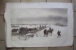 INGHILTERRA SCOZIA 1855 GUERRA DI CRIMEA STAMPA SIMPSON WILLIAM THE CAMP OF THE 1 DIVISION LONDON COLNAGHI CM 54x35 - Vecchi Documenti