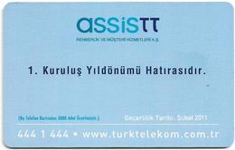 Turkey - TT (chip) - C-221 - Assistt 1st Anniversary, 50U, 2009, 3.000ex, Used - Turkey