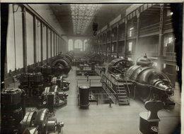 LONDON THE CHELSEA POWER STATION ELECTRIC RAILWAYS LONDON  Lots Road Power Station 21*16CM Fonds Victor FORBIN 1864-1947 - Trenes