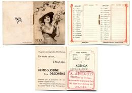 Calendrier 1937 - Sirop DESCHIENS - Kalenders