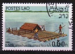 Laos 1982 Single 50c Stamp From The River Craft Set. - Laos