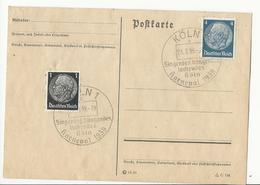 Carte Postale Cologne - 1939 - Briefe U. Dokumente