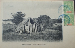 DF40266/276 - COLONIES FR. - PAIRE N°31 - CàD TANARARIVE (MADAGASCAR) 19 DEC 1907 - CPA : TOMBEAU BETSIMISARAKA - Briefe U. Dokumente