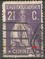 Portugal 2 1/2C Ceres   N/C Cliche-Used Thin - Usado