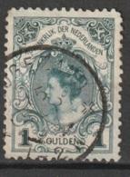 1898 Wilhelmina 1 GLD Inhuldigingszegel NVPH 49 - Usati