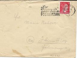 22.01.1945 , (15) Gera , PLZ Stempel, , Brief - Allemagne