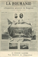 Exposition Générale De Bucarest 1906, Journal Quotidien La Roumanie, Voir Cachets Au Verso, Carte Pas Courante - Esposizioni