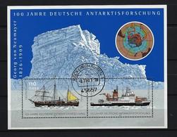 BUND - Mi-Nr. Block 57 - 100 Jahre Deutsche Antarktisforschung Gestempelt RECKLINGHAUSEN - BRD