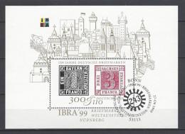 BUND - Mi-Nr. Block 46 Internat. Briefmarkenausstellung IBRA '90 Nürnberg Ersttags - Gestempelt - BRD