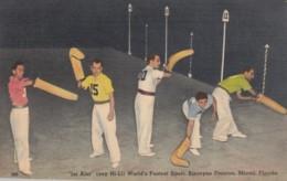 Jai-Alai Players, Biscayne Fronton, Miami Florida, C1940s Vintage Postcard - Postcards