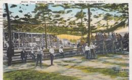 Horse Shoe Pitching St. Petersburg Florida Pastime, C1920s Vintage Postcard - Postcards