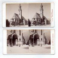 AK-2319/ 2 X Bozen Pfarrkirche Stereofoto V Alois Beer ~ 1900 - Stereo-Photographie