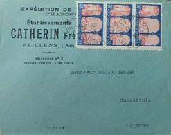 """DF40266/289 - ✉️ Avec PUBLICITE """" ETs CATHERIN Frères - VOLAILLES De BRESSE """" - N°263 - CàD De MACON-GARE 11 MARS 1930 - Advertising"""