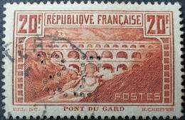 DF40266/292 - 1929 - PONT DU GARD - N°262 (II B) LUXE - Used Stamps