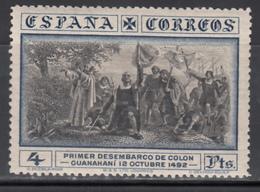 1930 Edifil  Nº 544  MH, Descubrimiento De América, - 1931-50 Nuevos & Fijasellos