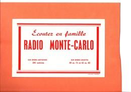"""BUVARD. RADIO   """" MONTE CARLO """"  Achat Immédiat - Blotters"""