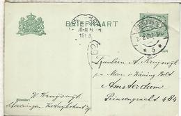 HOLANDA ENTERO POSTAL 1909 SCHEVENINGEN - Cartas