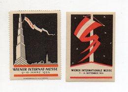 Y8925/ 2 X Reklamemarke Wien Internat. Messe 1924  - Reklame