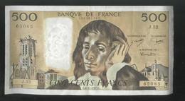 Billet 500 Francs France Pascal 6-11-1975.C - 1962-1997 ''Francs''