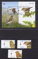 16.- PORTUGAL 2019 EUROPA 2019 NATIONAL BIRDS (THREE SOUVENIR SHEET AND THREE STAMPS) - 1910-... República