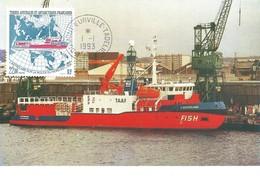 TAAF-Dumont D'Urville-T.Adélie: Carte 1er Jour Avec Timbre N°181 L'Astrobale - 01/01/1993 - Lettres & Documents