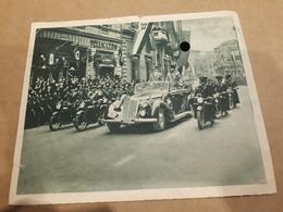 Postkarte Der Duce (Mussolini) Und Der Führer (Hitler) Treffen - Guerra 1939-45