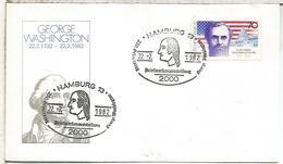 ALEMANIA 1982 ¡MAT HAMBURG GEORGE WASHINGTON - George Washington