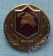 USSR / Badge / Soviet Union / RUSSIA. MIA. Soviet Fire Protection 70 Years. Fireman. 1988 - Firemen