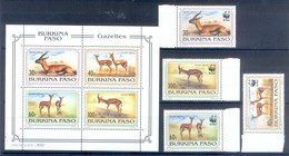 D145- Burkina Faso WWF W.W.F. 1993 Red Fronted Gazelle. - W.W.F.