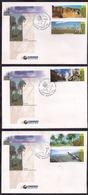 Argentina - 1999 - FDC - Fauna - Parques Nacionales - Puma - Vicuña - Condor - Coigo - Zorro - FDC