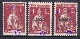 "Portugal 1930 1E Ceres. Portugal And Açores. Same N/C Cliche Under ""E"". MNG/MH/VFU No Faults. Read - Azores"
