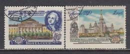 USSR 1955 - 200 Jahre Lomonossow-Universitaet, Mi-Nr. 1780A/81A, Used - 1923-1991 USSR