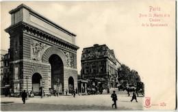 75010  Paris Porte Saint Martin Et Le Théatre De La Renaissance Kunzli  Carte Précurseur - Arrondissement: 10