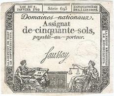 Francia - France 50 Sols 4-1-1792 Pk-a 56 Ref 3512-2 - Assignats