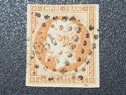 Napoléon III N° 16 (Variété, Belle Tache Devant Le Cou) Avec Oblitération Losange  TB - 1853-1860 Napoleon III