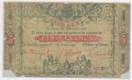 1916: Stad GENT: NOODGELD/ Ville De GAND: Argent De Nécessité. - [ 2] 1831-... : Royaume De Belgique